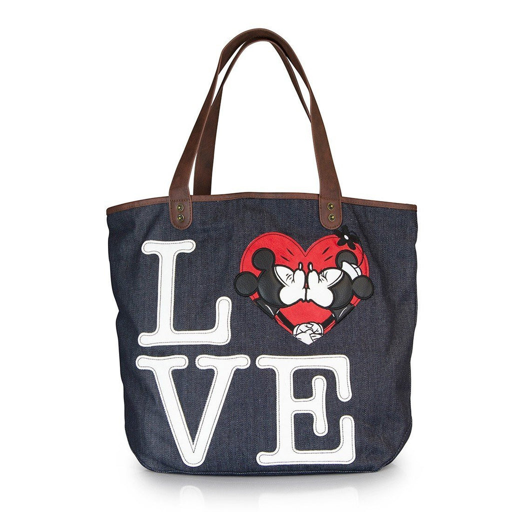 Disney Classic Mickey Mouse And Minnie Mouse Love Tote