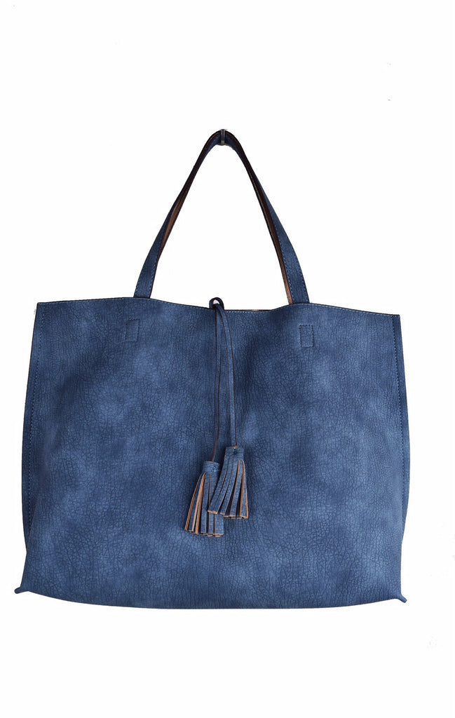 Street Level Blue/Nude Reversible Tote