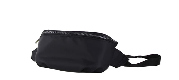Street Level Black Nylon Fanny Pack