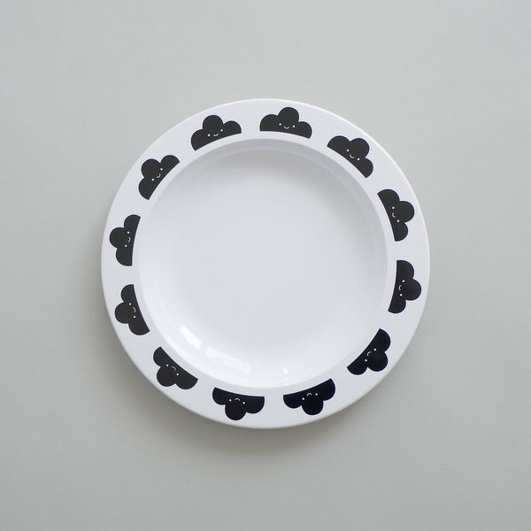Buddy + Bear Happy Clouds   Plastic Plate (Black)