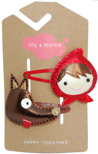 Big Bad Wolf Hair Clip by Lily and Momo - Gemgem