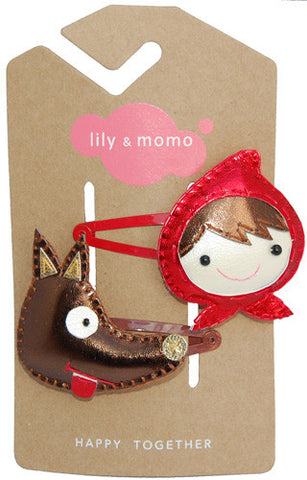 Big Bad Wolf Hair Clip by Lily and Momo