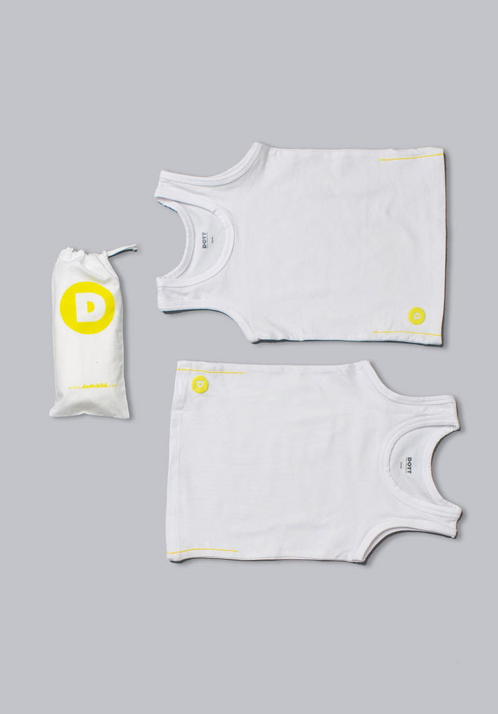 Dott Boy s 2pc White Tank Set