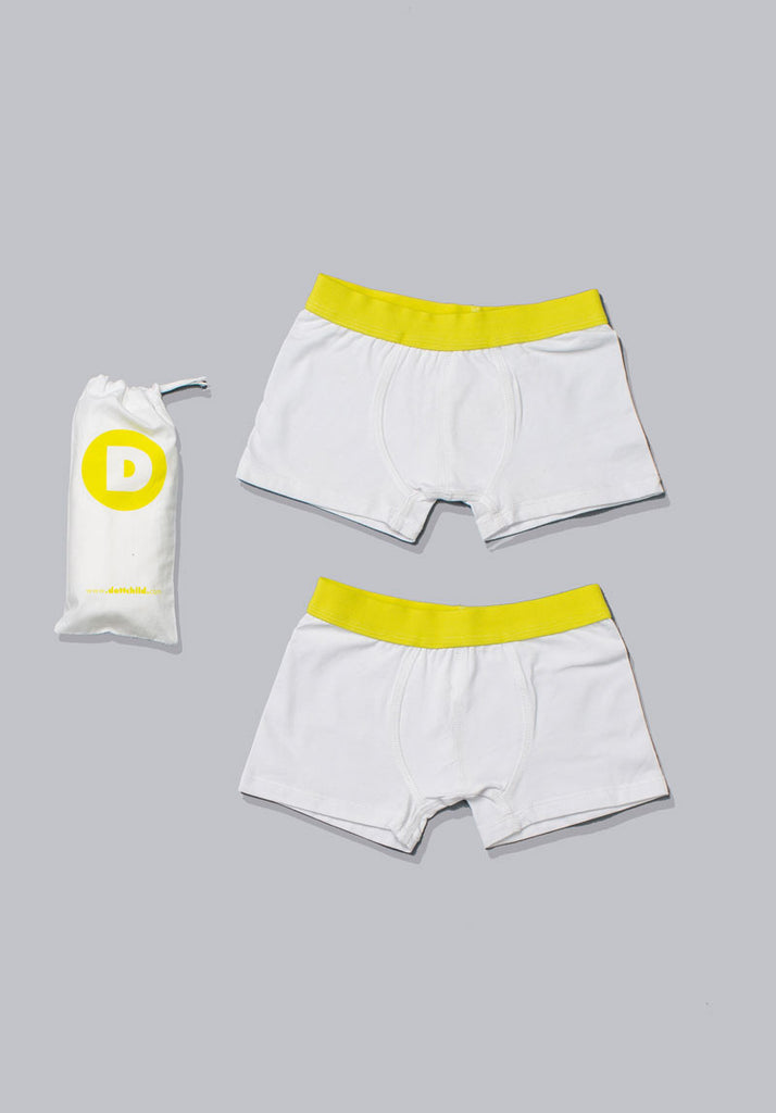 Dott Boy s 2pc White Boxer Set
