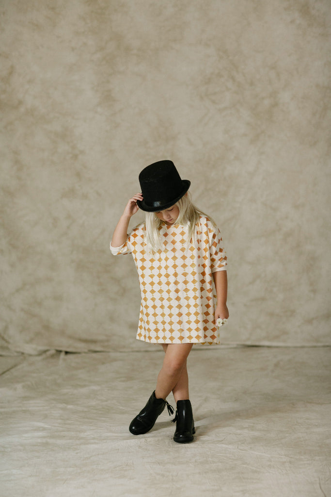 Rylee + Cru Diamonds Slouch Dress / Vanilla
