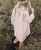 Rylee and Cru BUTTON SHIRT DRESS / BLUSH
