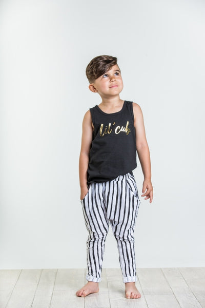 Joah Love Lil Cub Print Tank Top Black