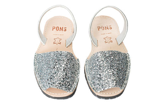Avarcas Pons Classic Style Glitter Silver