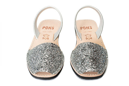 Avarcas Pons Wedge Glitter Silver