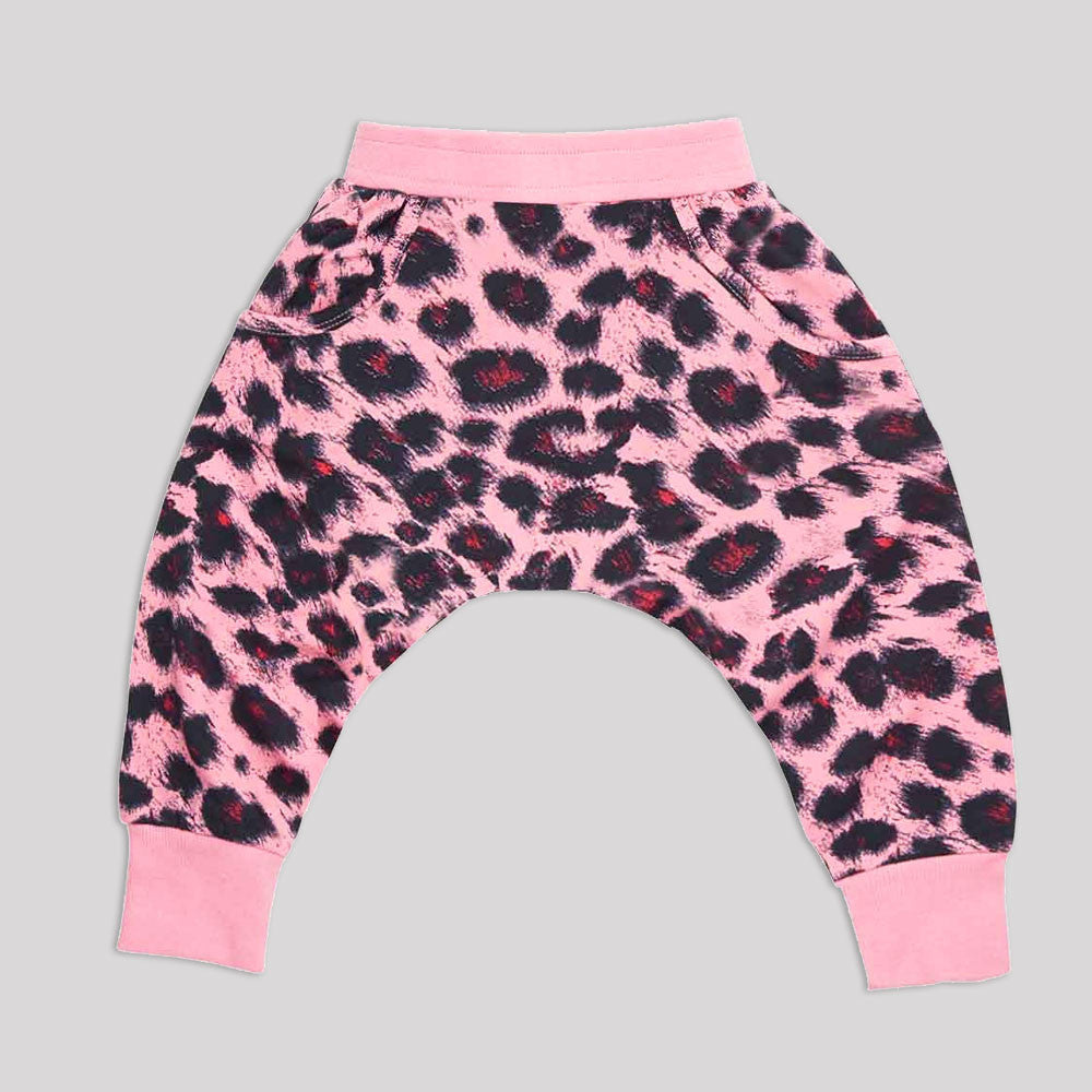 Rock Your Baby Pink Leopard Baby Slouch Pants - Gemgem