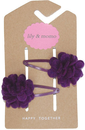Snapdragon Violet Hair Clip by Lily and Momo - Gemgem