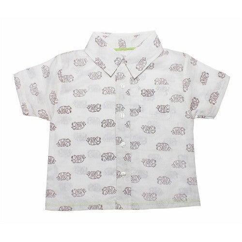 [Egg Baby] Voile Button - Down Shirt - raisin - Gemgem  - 1
