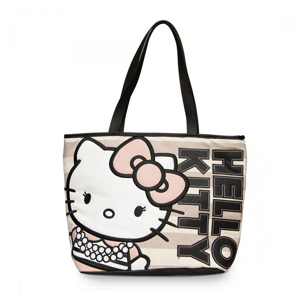 Loungefly Hello Kitty Pearls/Stripe Tote