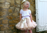 DOLLY by Le Petit Tom THUMBELINA pettiskirt ivory cream
