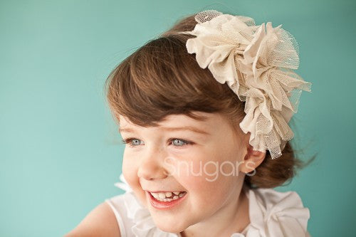 Snugars Floating Flowers in Ivory headband - Gemgem  - 1