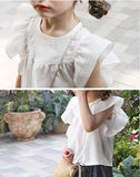 Romantic White Ruffle blouse