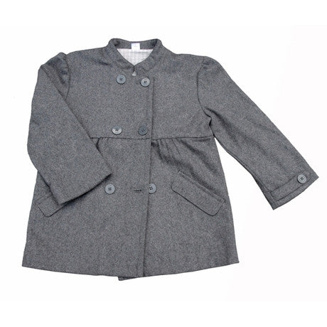 [Egg Baby] Girl Peacoat - Grey - Gemgem