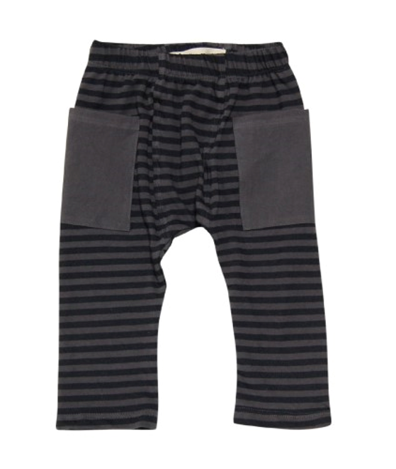 Go gently baby Stripe pants in Charcoal - Gemgem  - 1