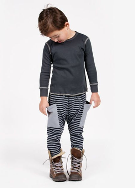 Go gently baby Stripe pants in Silver Gray - Gemgem  - 1