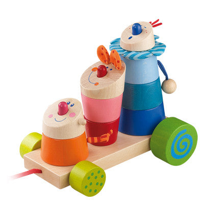 Stack the Trix Mix Wooden Pull Toy from Haba - Gemgem  - 1
