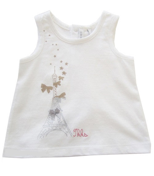 Ikks White Tank Top - Gemgem  - 1