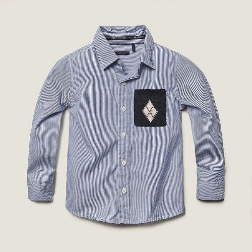 Ikks Boy stripe shirt with pocket - Gemgem  - 1