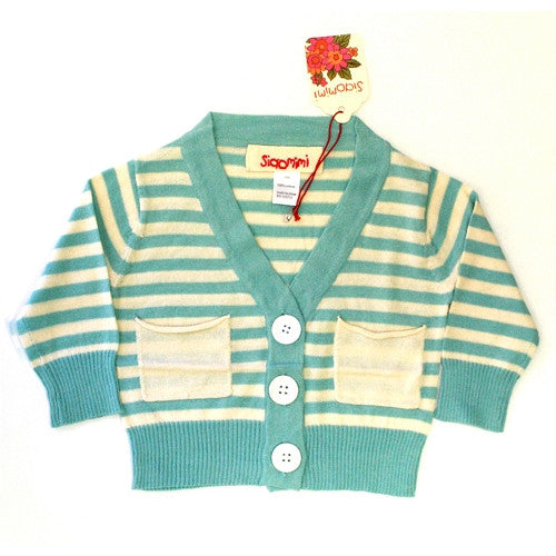 [Siaomimi] Stripe cardigan - feather/cream - Gemgem  - 1