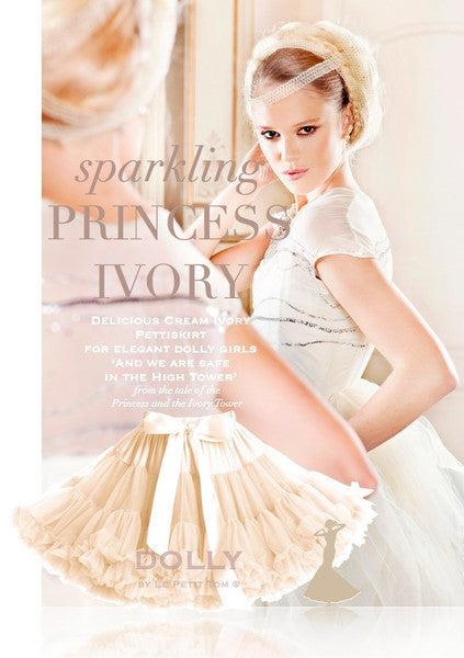 DOLLY by Le Petit Tom THUMBELINA pettiskirt ivory cream - Gemgem  - 1