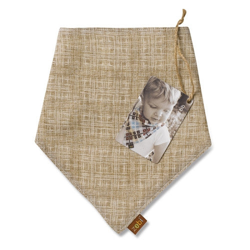 [Zebi Baby] Brown Crosshatch Kerchief Bib - Gemgem