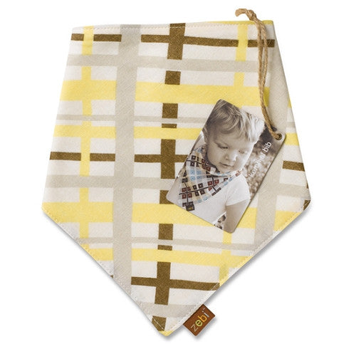 [Zebi Baby] Yellow Plaid Kerchief Bib - Gemgem