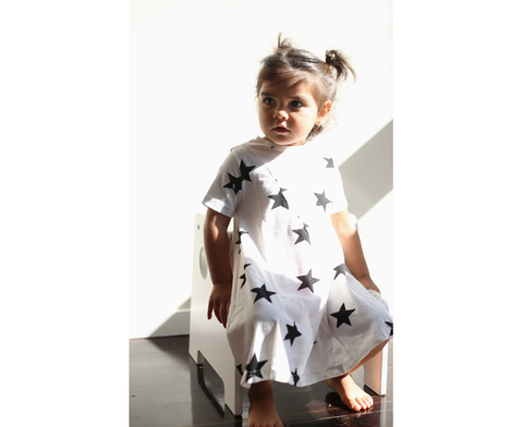 NuNuNu White Star T-Shirt Dress