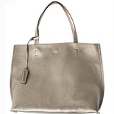 Street Level Pewter/Nude Reversible Tote