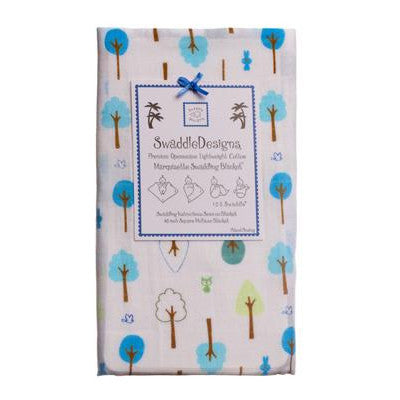 [Swaddle Design] Marquisette Swaddling Blanket - True Blue Cute & Wild - Gemgem