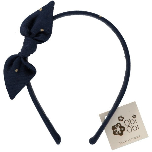 Gold Dots Bow Headband by Obi Obi - Gemgem  - 1