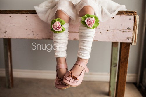 Snugars Strawberries and Cream Petite Rose Legwarmers - Gemgem  - 1