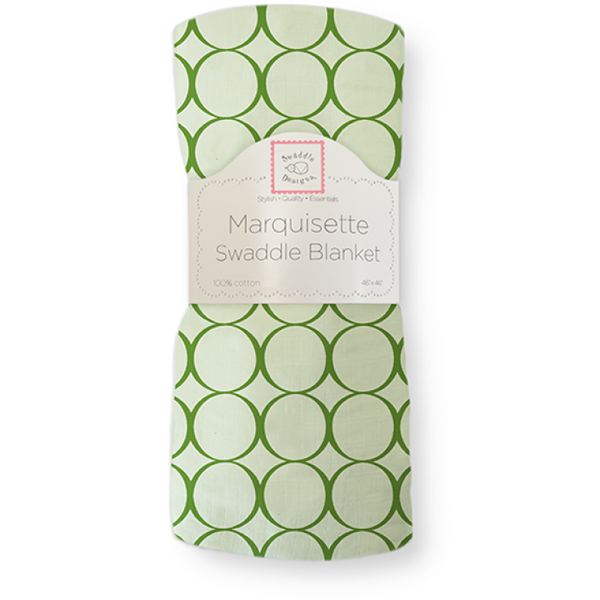 [Swaddle Designs] Marquisette Swaddle Blanket- Jewel Mod Circles Pure Green