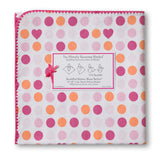 [Swaddle Design] Ultimate Receiving Blanket - Dots and Hearts - Gemgem