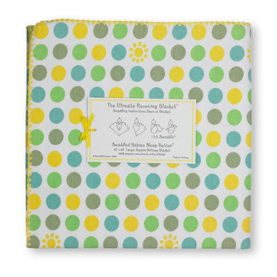 [Swaddle Design] Ultimate Receiving Blanket - Dots and Suns - Gemgem