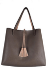 Street Level Reversible Tote Pink/Taupe