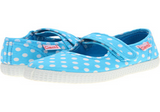 Cienta Shoes Turquoise Polka Dot