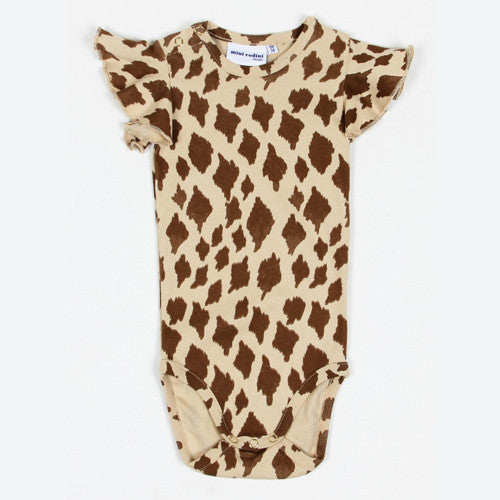 [Mini Rodini] Wing Body Giraffe onesie - beige/brown - Gemgem  - 1