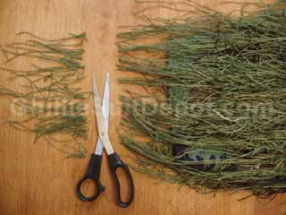 How to Make a Ghillie Suit - Part 8: Tie on the Thread