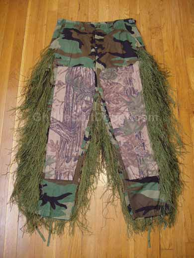 Homemade Ghillie Pants