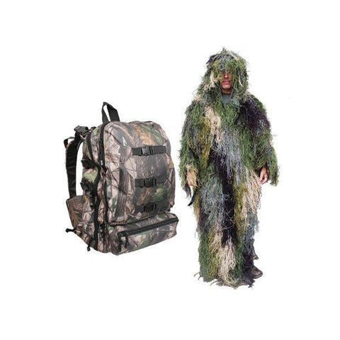 Bushrag Ghillie Suit and Backpack
