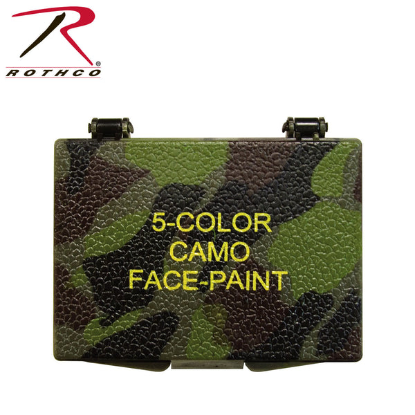 Rothco 5 Color Camo Face Paint - Square Compactv