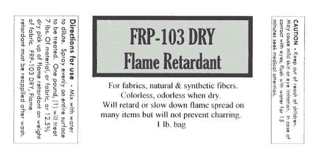 Fire Proof It FRP 103 Dry Fire Retardant