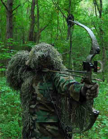 Lightweight Bow Hunting Ghillie Jacket