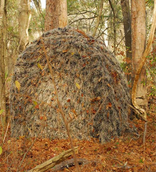 Backpack Ground Blind Tent with Ghillie Cover