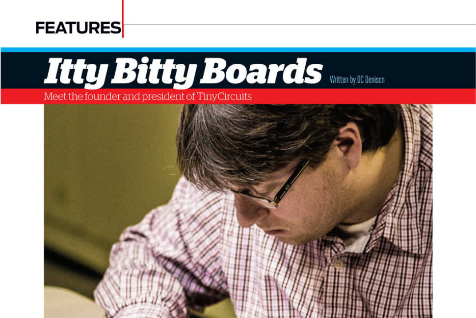 TinyCircuits Interview in Make Magazine