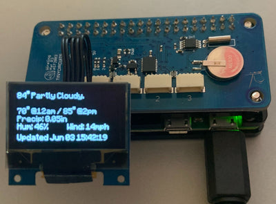 Displaying Forecast Info on OLED with Raspberry Pi